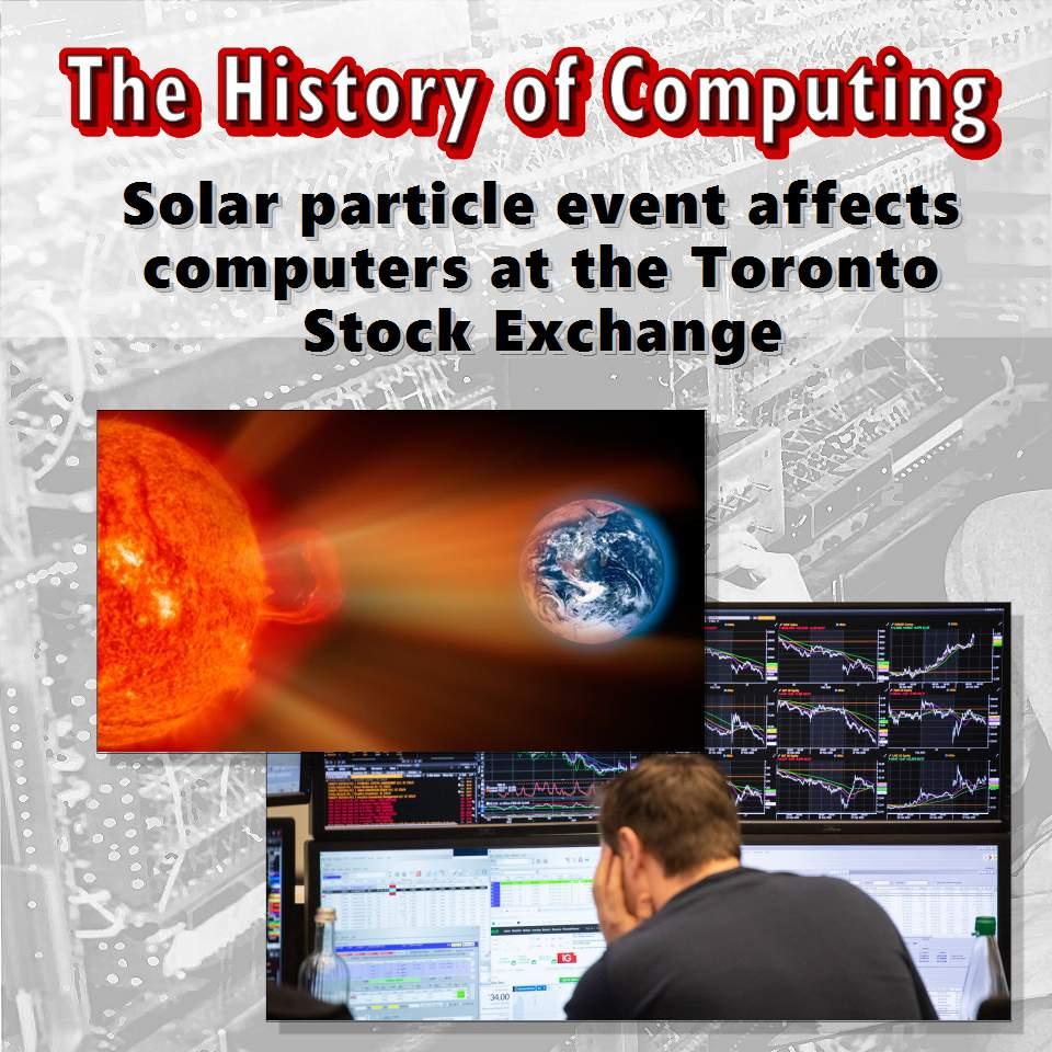 Изригването на слънчеви частици засяга компютри на борсата в Торонто